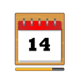 Fourteenth day in the calendar vector image