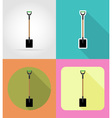garden tools flat icons 02 vector image
