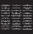 hand drawn vintage dividers vintage ornaments for vector image