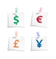 Hands draw money symbols vector image vector image