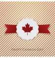 Happy Canada Day Holiday Emblem with Type vector image vector image