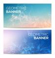 horizontal banners set with polygonal vector image vector image