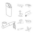 isolated object equipment and smoking symbol vector image vector image