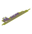 isometric airport runway with take-off vector image