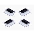 Isometric generic white smartphone vector image vector image