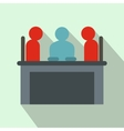 Job interview icon flat style vector image vector image