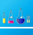 Laboratory glassware sketch vector image vector image