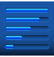 Loading bar on dark blue background vector image