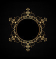 luxury frame background vector image vector image