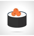 Maki sushi flat color icon vector image