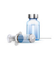 medical syringe and ampoule vector image vector image