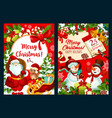 merry christmas holidays greeting card vector image