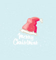 merry christmas post card winter greeting card vector image