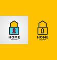 modern minimalistic logo design for home vector image vector image