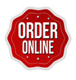 order online label or sticker vector image vector image