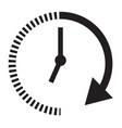 passage of time icon with shadow on black vector image vector image