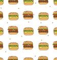 pattern hamburger cheeseburger vector image
