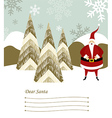 Santa Claus letter vector image vector image