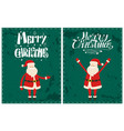 santa claus new year symbol on grunge dark green vector image