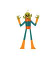 scary green alien humanoid cartoon character