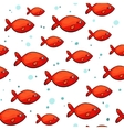 sea pattern with small red fish vector image