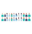 set in flat style isolated vector image vector image
