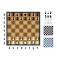 Set of chess icons and different chessboards vector image