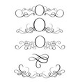 set of decorative frame and borders art vector image vector image