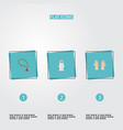 set of holiday icons flat style symbols with vector image vector image