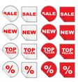 set of retail tags vector image vector image