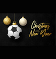 soccer merry christmas and happy new year luxury vector image vector image