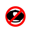 stop police police cap prohibited sign ban cop vector image
