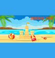 summertime lettering flat banner vector image