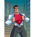 superhero under cover casual in city vector image vector image