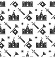 swords medieval castle seamless pattern design vector image vector image