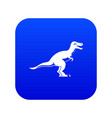 theropod dinosaur icon digital blue vector image vector image