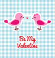 Two birds with love letter vector image vector image