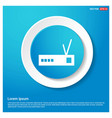 wifi router icon abstract blue web sticker button vector image