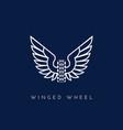 winged wheel vector image vector image
