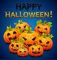 halloween party invitation with pumpkins vector image