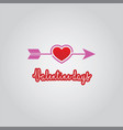 love arrow valentine days vector image