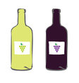 red and white wine color vector image