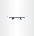 skateboard icon logo symbol design vector image