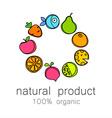 100 organic logo vector image