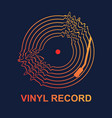 abstract vinyl record wave music with dark vector image