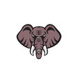 African Elephant Head Angry Tusk Retro vector image vector image