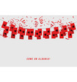 albania garland flag with confetti vector image vector image