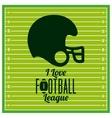 american football league design vector image vector image