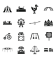 Amusement park icons set simple style vector image vector image