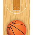 basketball court and ball vector image vector image